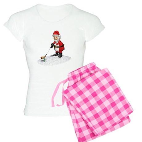 Golfing Santa Claus Women's Light Pajamas