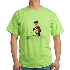 Golfing Santa Claus T-Shirt