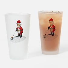Golfing Santa Claus Drinking Glass