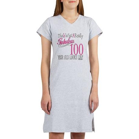 100th Birthday Gift Women's Nightshirt