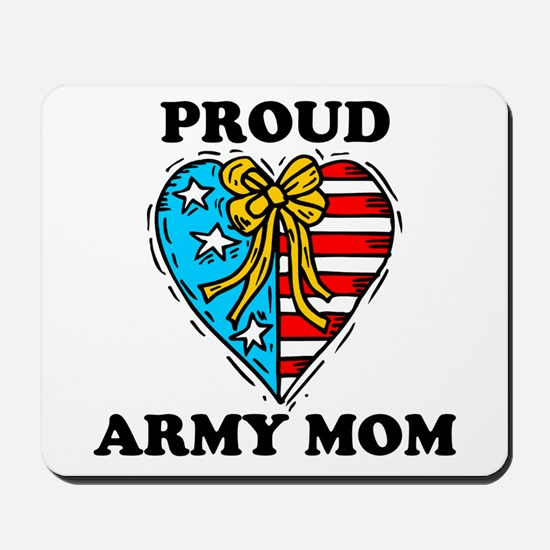 Army Mom Patriotic Heart Mousepad