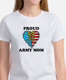 Army Mom Patriotic Heart Women's T-Shirt