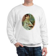 Renoir's Girl with Cat Sweatshirt