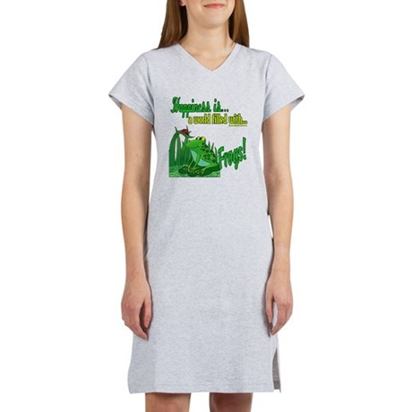 Happiness is a Frog Women's Nightshirt