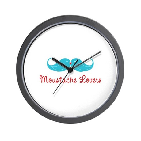 Moustache Lovers Wall Clock