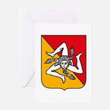 Sicily Coat of Arms Greeting Cards (Pk of 10)