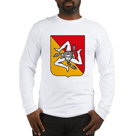 Sicily Coat of Arms Long Sleeve T-Shirt