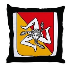 Sicily Coat of Arms Throw Pillow