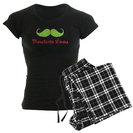 moustache lovers Women's Dark Pajamas