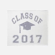 Class Of 2017 Graduation Throw Blanket