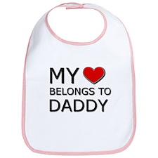 My Heart Belongs To Daddy Baby Bib