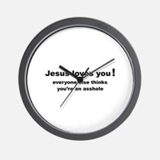 Jesus loves you ... Wall Clock