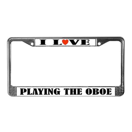 Oboe Gift Music License Plate Frame