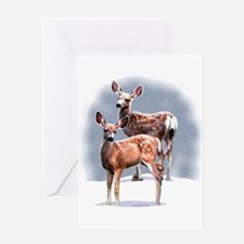 Fawn's White (B) Greeting Card