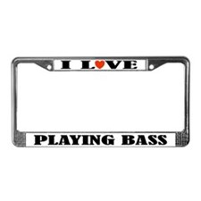Bass Music Gift License Plate Frame