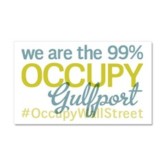Occupy Gulfport Car Magnet 20 x 12