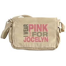 I wear pink for Jocelyn Messenger Bag