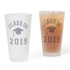 Class Of 2019 Graduation Drinking Glass