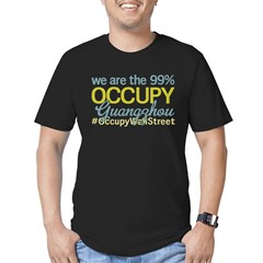 Occupy Guangzhou Men's Fitted T-Shirt (dark)