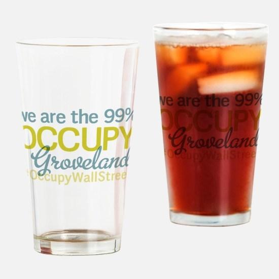 Occupy Groveland Drinking Glass