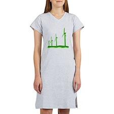 Green Wind Power Women's Nightshirt