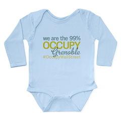 Occupy Grenoble Long Sleeve Infant Bodysuit