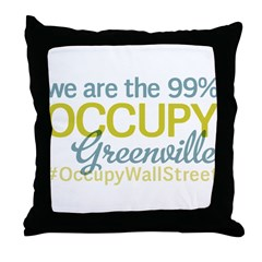 Occupy Greenville Throw Pillow