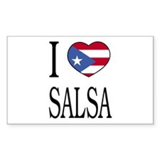 "Puerto Rican ""I Love Salsa"" Rectangle Decal"
