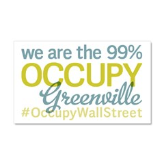 Occupy Greenville Car Magnet 20 x 12