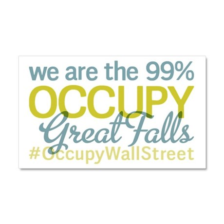 Occupy Great Falls Car Magnet 20 x 12