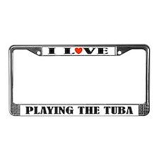 Tuba Gift License Plate Frame