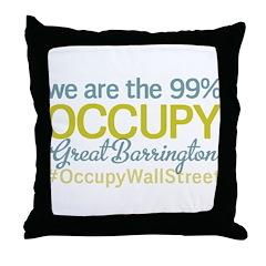 Occupy Great Barrington Throw Pillow