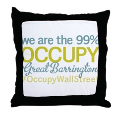 Occupy Great Barrington Throw Pillow