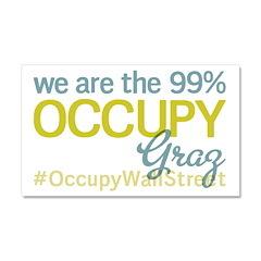 Occupy Graz Car Magnet 20 x 12