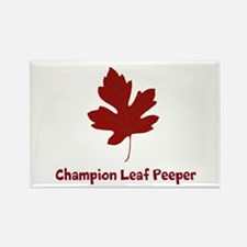 Champion Leaf Peeper Rectangle Magnet