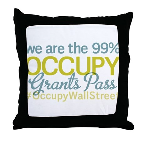 Occupy Grants Pass Throw Pillow