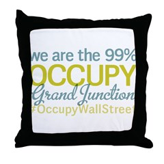 Occupy Grand Junction Throw Pillow