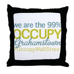 Occupy Grahamstown Throw Pillow