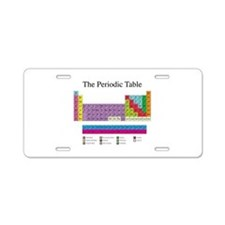 Periodic Table Aluminum License Plate