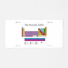 Periodic Table Aluminum License Plate