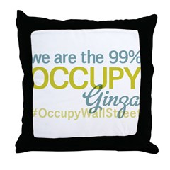 Occupy Ginza Throw Pillow