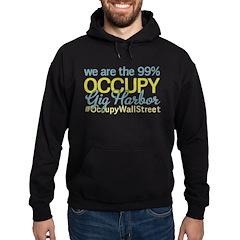 Occupy Gig Harbor Hoodie (dark)