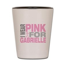 I wear pink for Gabrielle Shot Glass