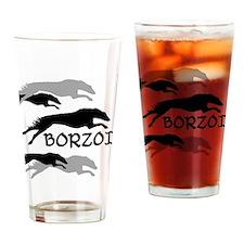 Cute Borzoi Drinking Glass