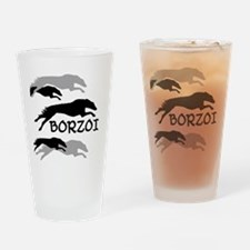 Unique Russian wolf hound Drinking Glass