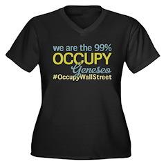 Occupy Geneseo Women's Plus Size V-Neck Dark T-Shi