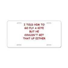 funny divorce joke Aluminum License Plate