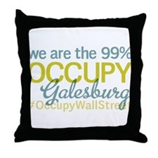 Occupy Galesburg Throw Pillow