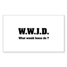 What would Jesus do ? Decal