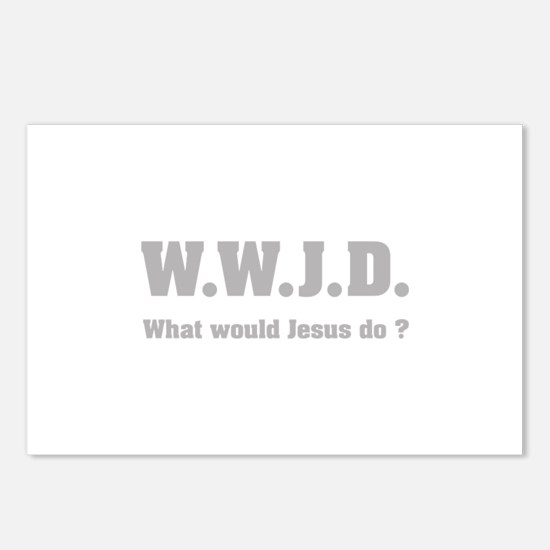 What would Jesus do ? Postcards (Package of 8)